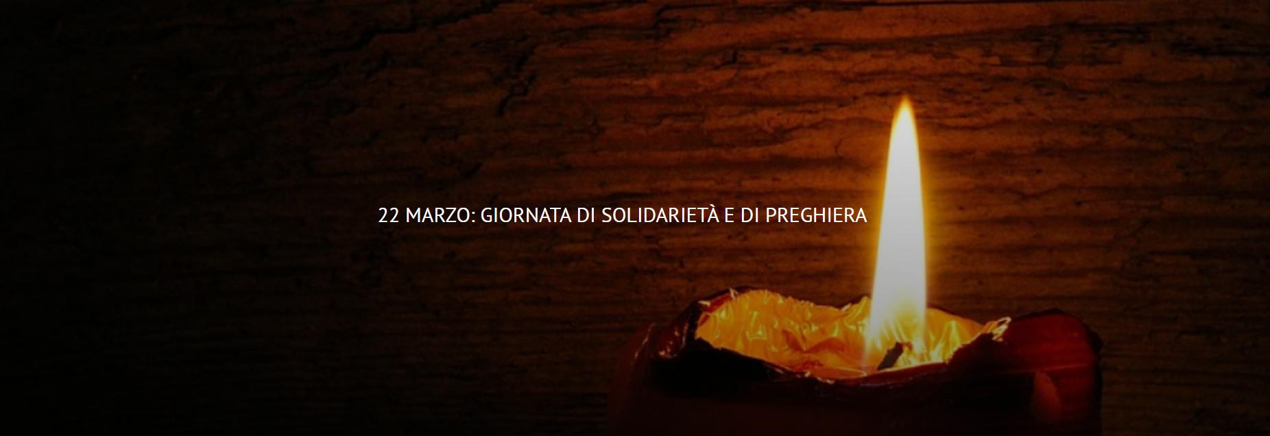 UISG -22 marzo: Giornata di Solidarietà e di Preghiera